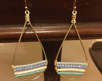 Beachy Teardrop Hoop Earrings