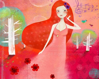 Sweet Melody - open edition print - Whimsical Art