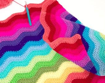 Custom slot - Crochet Ripple Blanket