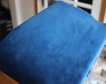 Midnight Blue Minky Fabric - Uncut