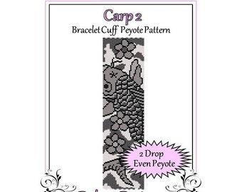 Bead Pattern Peyote(Bracelet Cuff)-Carp 2