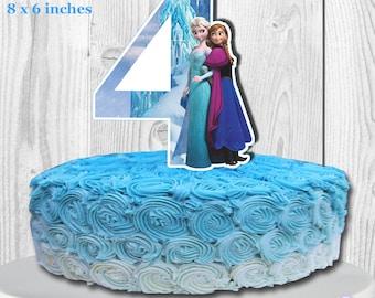 Disney FROZEN Cake Topper, Disney Frozen Centerpiece, PRINTABLE, You Print