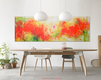 Landscape painting Large abstract horizon painting original brown Large painting on canvas art Abstract landscape painting Minimalist art