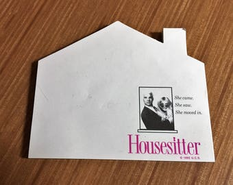 Note pad from the movie Housesitter.