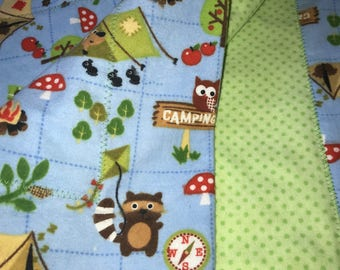 Double Sided Receiving Blanket - Camping