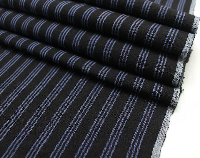 Japanese Vintage Kasuri Ikat. Woven Cotton Scrap. Traditional Folk Fabric. (Ref: 1912)