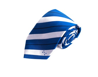 Honduras Tie - Inspired by the Honduras Flag with Personalized Tag. LDS Missionary. Husband Gift, Missionary Gift.