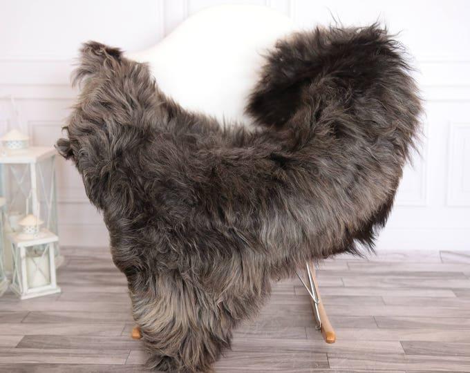 Organic Sheepskin Rug, Real Sheepskin Rug, Gute Sheepskin, Gray Brown Sheepskin Rug #GUTEFEB7