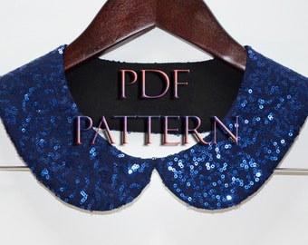 DIY Peter Pan  Collar Necklace PDF Pattern  Sewing