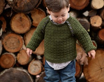 make your own Lumberjack Sweater (DIGITAL KNITTING PATTERN) sized newborn to 4 years