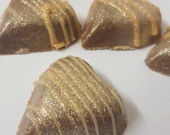Bailey's truffle Hearts, baileys, baileys chocolate, truffles, heart, glitter hearts