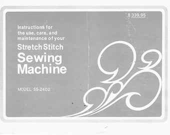 Sewing Machine Manual for Dressmaker SS-2402 Complete Instructions // DIGITAL // Directions for Use // PDF // Full Manual // Sewing Manual