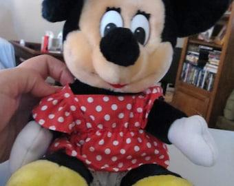 Vintage Minnie Mouse Stuffed Animal