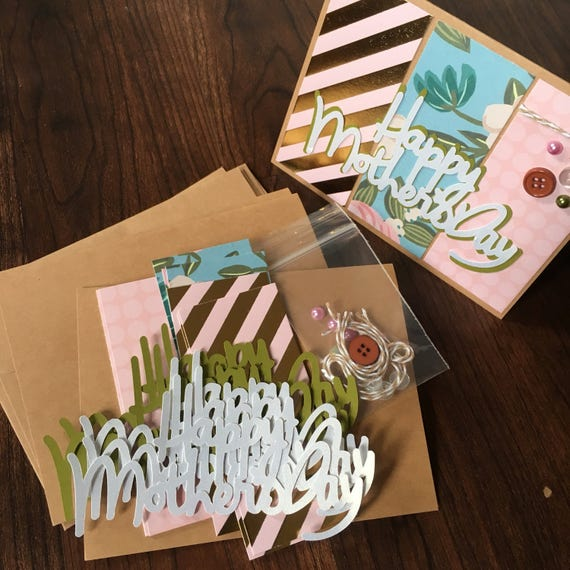 Diy card making kit mothers day 4pk blank inside card making diy card making kit mothers day 4pk blank inside card making kids craft greeting card kits premade card from nicoliowithlove on etsy studio m4hsunfo