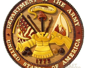 """12"""" Handcrafted Wooden Emblem WE16283"""