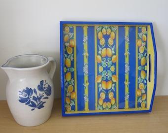 "Sunny Lemon Tray, Handmade in Provence, ""La Hélène"""