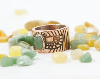 Scarab Copper ring Scarab ring Unisex ring Unique ring Jade ring Copper jewelry Gifts for him  Gihts for her Mother ring Mens ring Egypt