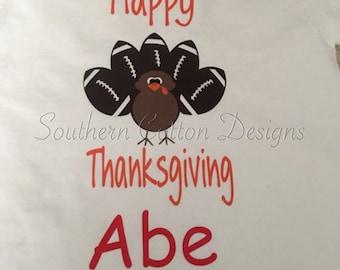 Boys personalized Thanksgiving Shirt