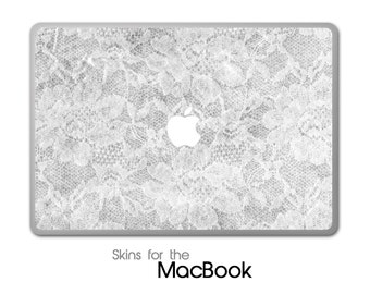 """White Textured Lace Skin for the MacBook 11"""", 13"""" or 15"""""""