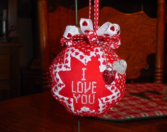 I Love You Valentine Ornament