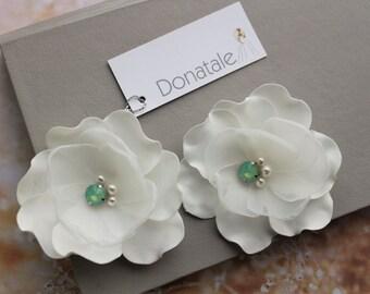Bridal headpiece -Wedding hair piece - Wedding Hair Flowers -Bridal hair flower- Bridal hair piece- Ivory Pink Blush Champagne Hair pins