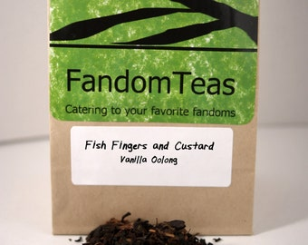 Fish Fingers and Custard: Doctor Who Inspired Tea Blend (Vanilla Oolong)