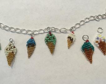 Ice Cream Cone Charm Bracelet