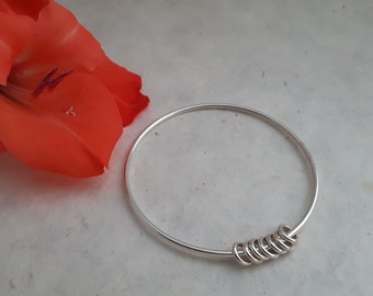 Sterling Silver 'Circles' Bangle