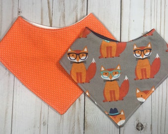 Bandana Bib - Baby Boy - Drool Bib - Toddler Bib - Baby Bandana Bib - Baby Shower Gift - Foxes - Ready to Ship!