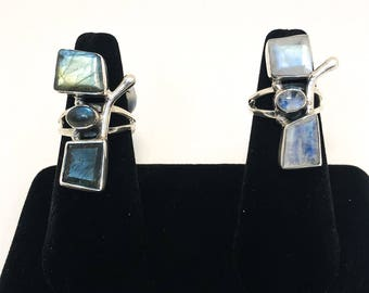 Abstract Labradorite Ring