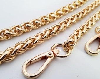 gold chain strap purse strap bag handbag strap handles Crossbody chain links Replacement Chain Strap finished chain width 7 mm 1pcs