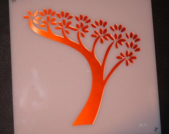 Bonsai Tree Acrylic and Recycled Aluminum