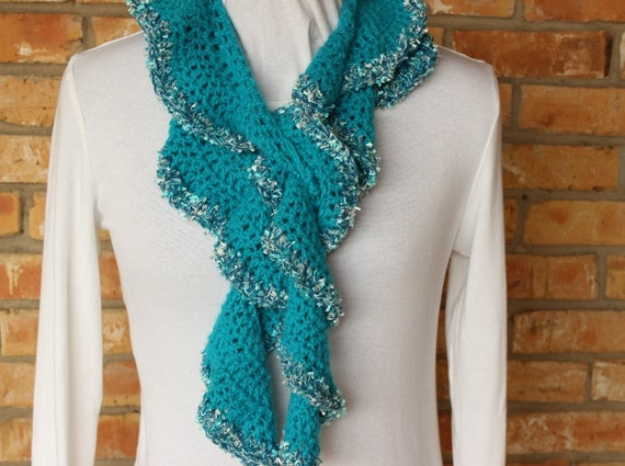 Crochet Pattern For Scarf Ruffle Scarf Crochet Pattern Rotini