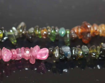 "Natural Genuine Tourmaline Chip Beads,Chip beads,4-8mm Tourmaline Chip Nugget Beads,one strand 15"",Tourmaline Beads"