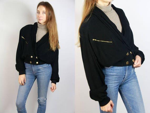 Suede Jacket Black / Black Jacket Suede / 80s Suede Jacket / Black Suede Blazer / Cropped Jacket Black / Vintage Jacket Suede / Suede Jacket