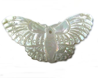 Mother of Pearl Butterfly Pendant (2 pc)