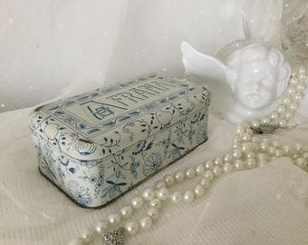 Tin can antique decoration Boudoirschachtel Abendclutch Edwardian style cosmetic box gift