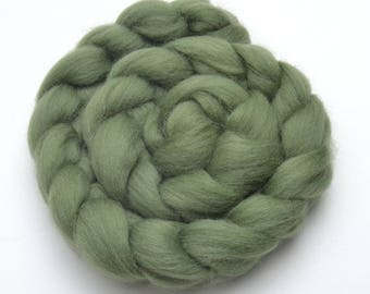Shetland Wool Combed Top - Olive Green - Conservation Breed - 100 grams