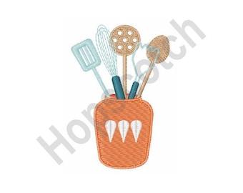 Cooking Utensils - Machine Embroidery Design - 4 X 4 Hoop, Kitchen, Chef, Dinner, Recipe