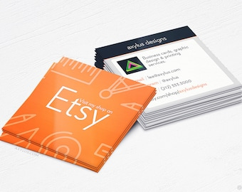 Youtube business cards social media design and printing etsy store business cards ecommerce design and printing 16pt uv 250 reheart Gallery