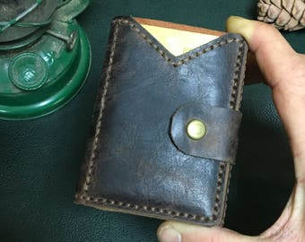 Brutal leather pull-up MINI wallet