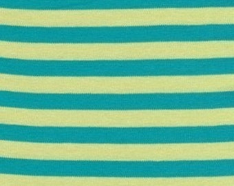 Knit Clown Stripe in citron by Michael Miller, 1 yard