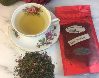 Kyoto Cherry Rose Green Tea Loose Leaf Tea 1.2 oz
