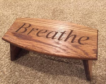 Handmade Oak Folding Meditation Bench
