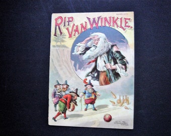 1889 Publication Of Rip Van Winkle With Six Full Color Chromolithographs