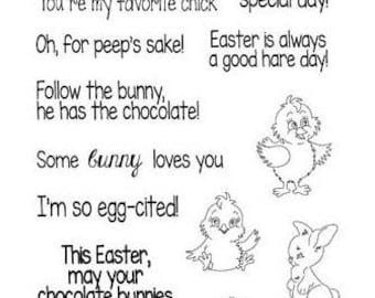 Frantic Stamper Clear Polymer Stamps, Easter Greetings FRACL088