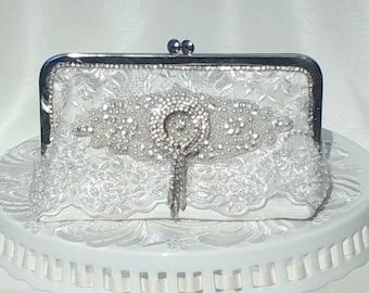 Ivory Handbag / Glam Wedding / Gatsby / Lace Handbag / 1920's / Bridal Handbag / Elgant Wedding
