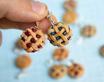 Miniature polymer clay pie charm