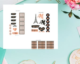 L'amour 2018 Valentine's Planner Sticker Kit - Paris