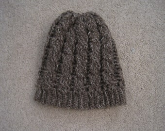 Crochet Cable Slouchy Adult Winter Hat